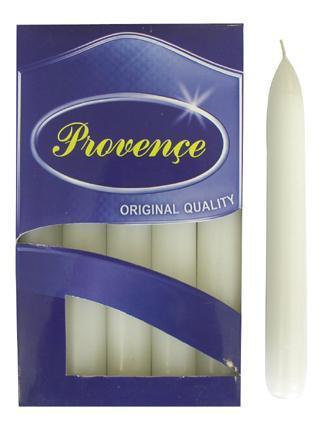 Svíčka bistro 10 ks bílá, 2 x 17 cm