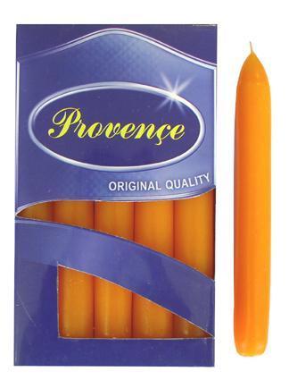 Svíčka bistro 10 ks oranžová, 2 x 17 cm