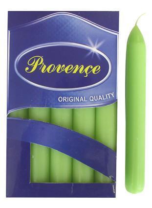 Svíčka bistro 10 ks světle zelená, 2 x 17 cm