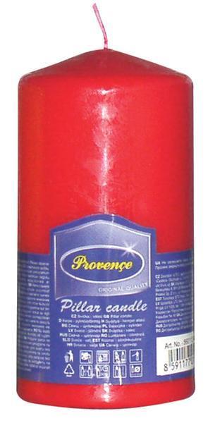 Svíčka parafín válec červená, 6, 3 x 12, 5 cm