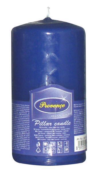 Svíčka parafín válec tmavě modrá, 6, 3 x 12, 5 cm