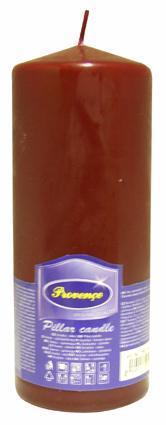 Svíčka parafín válec tmavě červená, 6, 3 x 16 cm