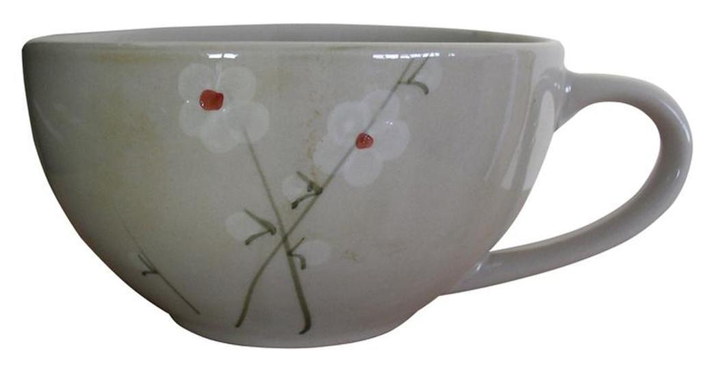 Hrnek TORO s dekorem květinky, průměr 13, 9 cm, objem 560 ml