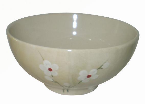 Miska s dekorem květinky, průměr 14, 1 cm, objem 600 ml