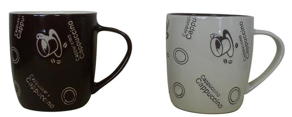 Hrnek s dekorem šálek cappuccino, objem 285 ml, 8, 1 x 8, 5 cm