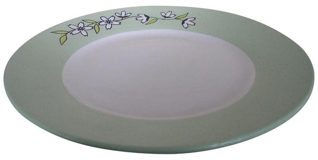 Talíř mělký s květinou, 26, 5 x 2, 9 cm