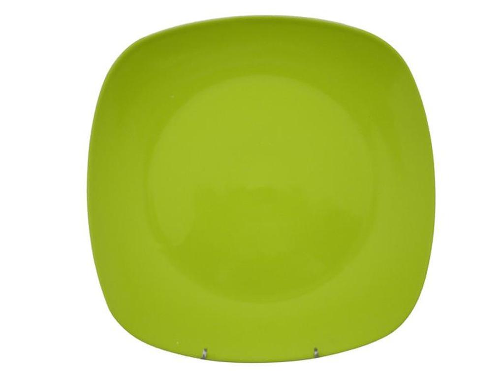 Talíř jídelní, čtverec, 25, 6 x 25, 6 x 2, 3 cm