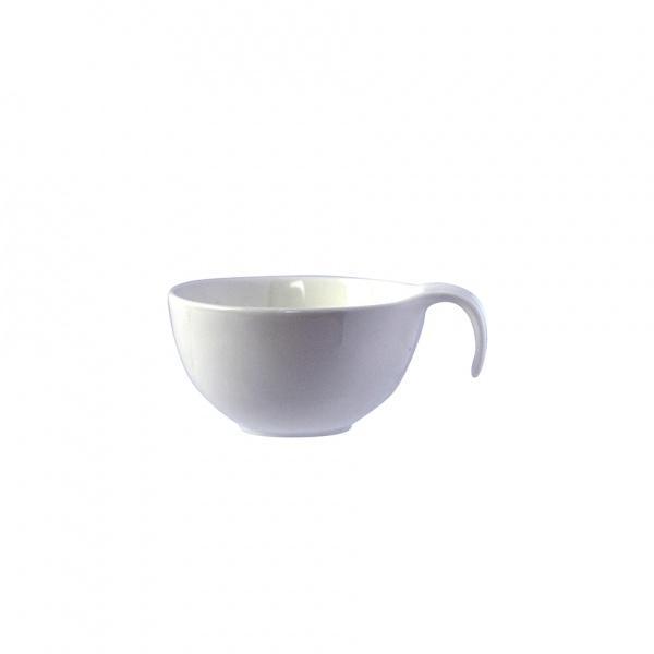 Miska porcelán kulatá s uchem, bílá, 10,5 x 8,3 x 5 cm