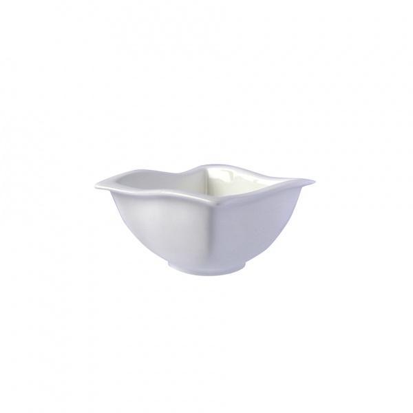 Miska porcelán nepr. čtverec, bílá, 8,8 x 8,8 x 5 cm