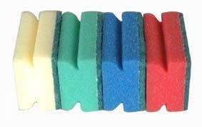 hubka na nádobí tvarovaná na nádobí, 4 ks, 6,5 x 9,3 x 4,2 cm