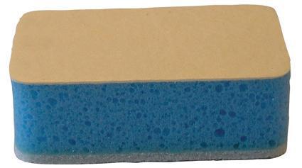 hubka do vany se syntetickou kůží, 11,7 x 6,8 x 4 cm