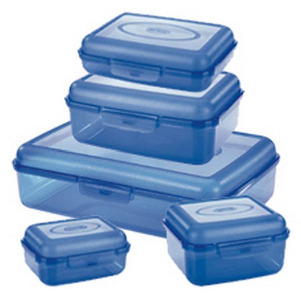"""Set dóz """"FILL BOX"""", 5 ks, objem 2 l; 800 ml; 500 ml; 300 ml; 200 ml"""