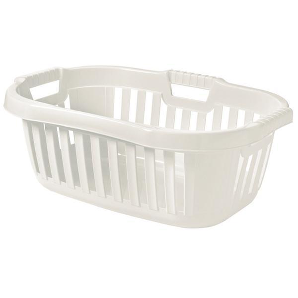 Koš na čisté prádlo bílý 50 l, 45,5 x 67 x 26,5 cm