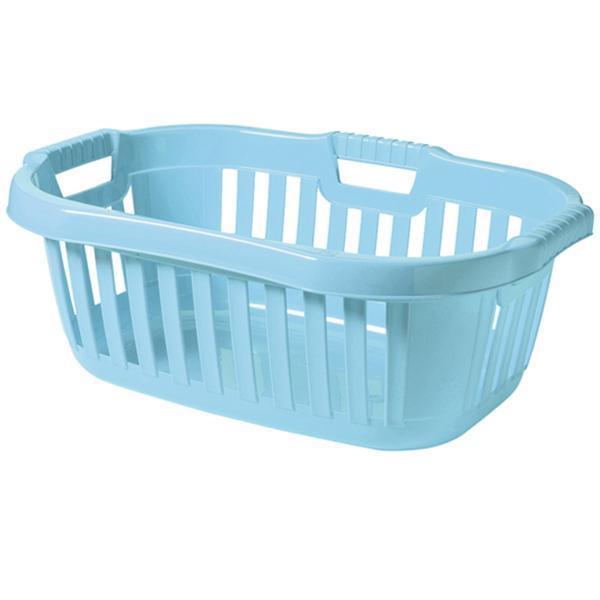 Koš na čisté prádlo arktická modrá 50 l, 45,5 x 67 x 26,5 cm