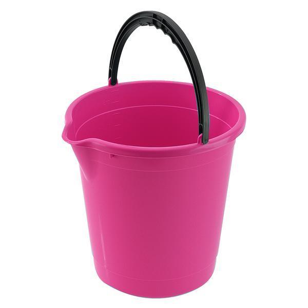 Kbelík s výlevkou, 10 L, plast - růžová fuksiová
