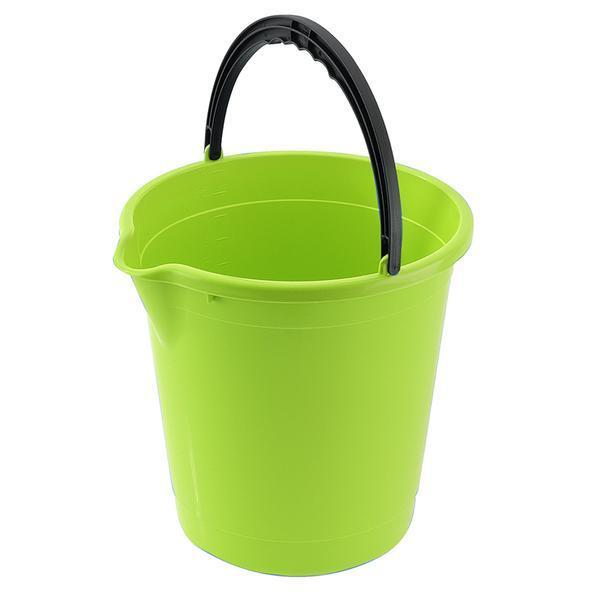 Kbelík s výlevkou 10 l - 28 x 29 cm - světle zelená