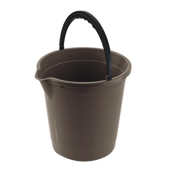 Kbelík s výlevkou 10 l - 28 x 29 cm - tmavě hnědá