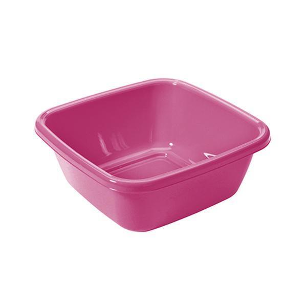 Čtvercové umyvadlo 8 l - 34 x 34 cm - růžová fuksiová