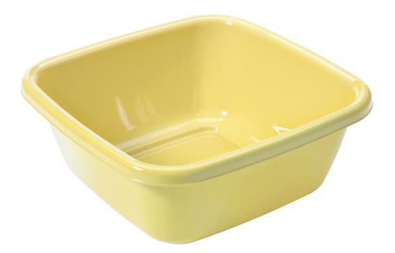 Čtvercové umyvadlo 6 l - 30 x 30 cm - bílá