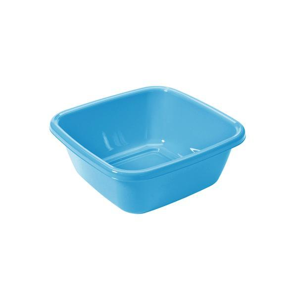 Čtvercové umyvadlo 6 l - 30 x 30 cm - safírově modrá