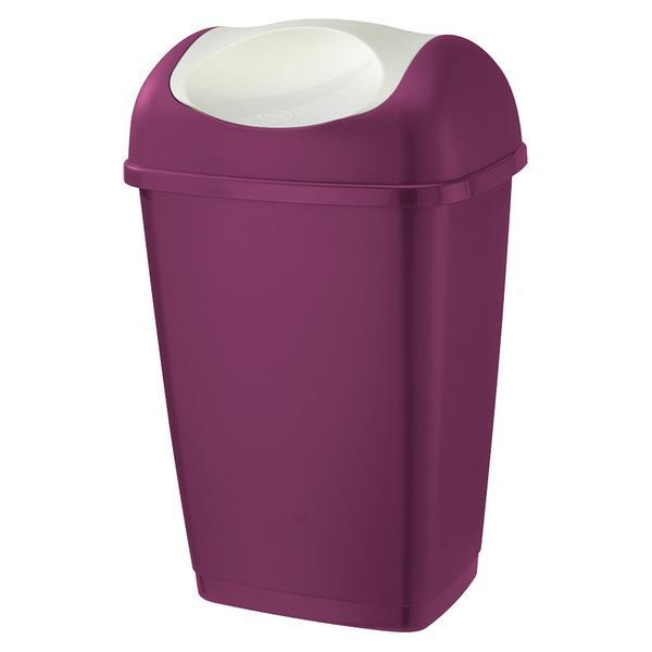 Koš na odpadky GRACE, objem 50 l, 40, 5 x 32 x 65, 5 cm