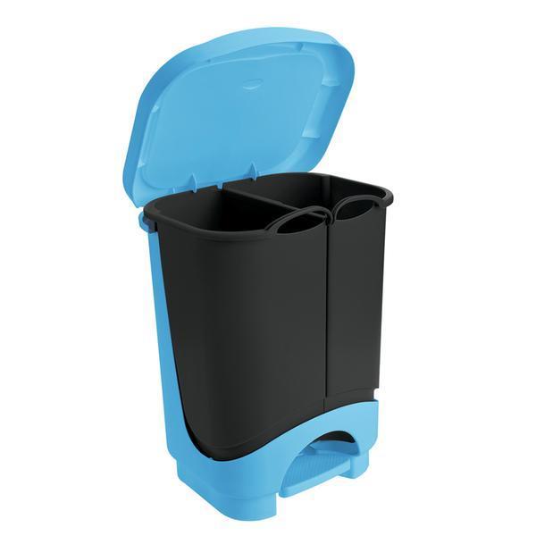 Koš na tříděný odpad IDEA, objem 2 x 10, 5 l, 35 x 29 x 44, 5 cm