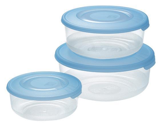 Dóza na potraviny, 3 ks, 1,7l/ 1l/ 550ml, plast