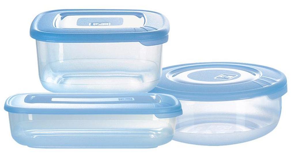 Dóza na potraviny, 3 ks, 300ml/ 460ml/ 450ml, plast