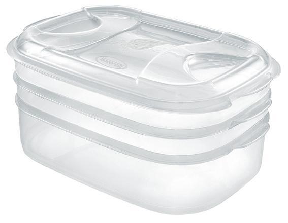 Dóza na potraviny NUVOLA, 3 ks, 2x1l/ 2l, plast