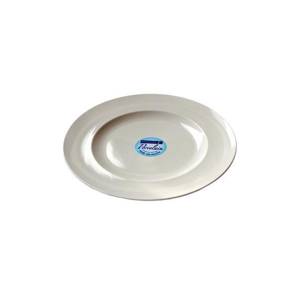 Talíř dezertní, tvrzené sklo, 22 cm, bílá