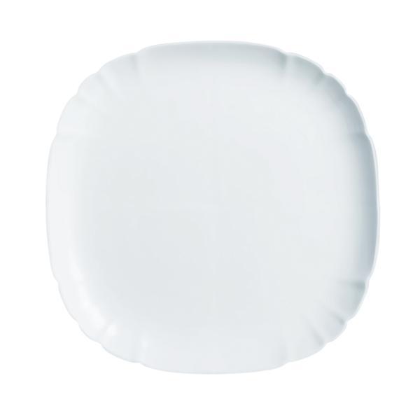 Talíř mělký Lotusia,bílá,25,5x25,5x1,5cm