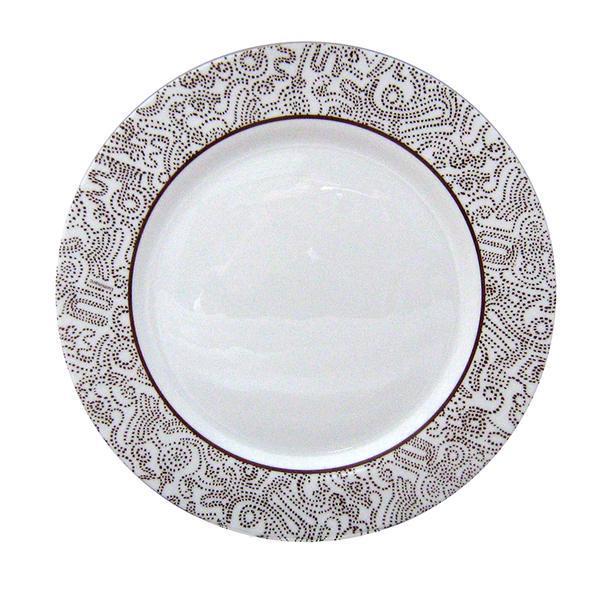 talíř jídelní moka, 26,5cm