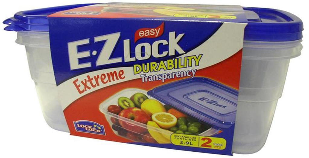 Dóza na potraviny EZ LOCK, objem 3, 9 l, 19 x 28 x 10, 8 cm