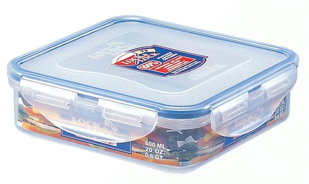 dóza na potraviny LOCk 15,5 x 15,5 x 4,5 cm, 600 ml