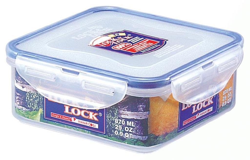 Dóza na potraviny LOCK, objem 870 ml, 15 x 14, 8 x 6 cm